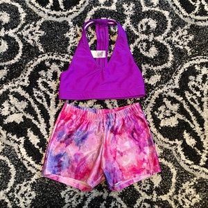 Girls Natalie sparkly bottoms & top size large